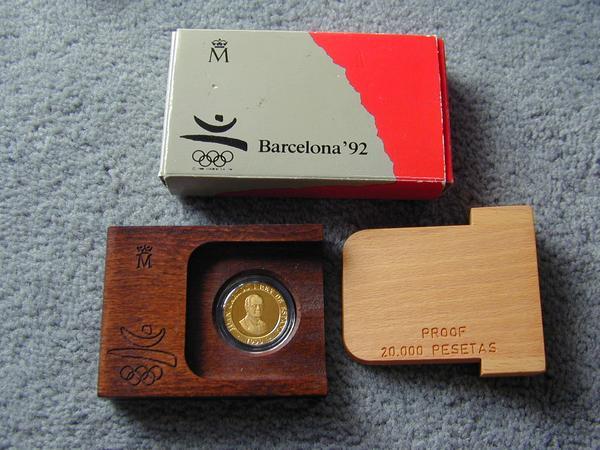 1992年 バルセロナオリンピック 記念金貨 & 銀貨: 富裕層御用達 ...